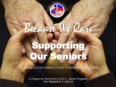 """""""Because We Care"""", TPC for our Seniors"""