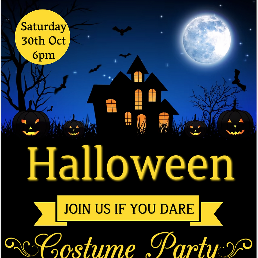 BUY YOUR TICKETS FOR OUR HALLOWEEN COSTUME PARTY - A FUNDRAISING EVENT