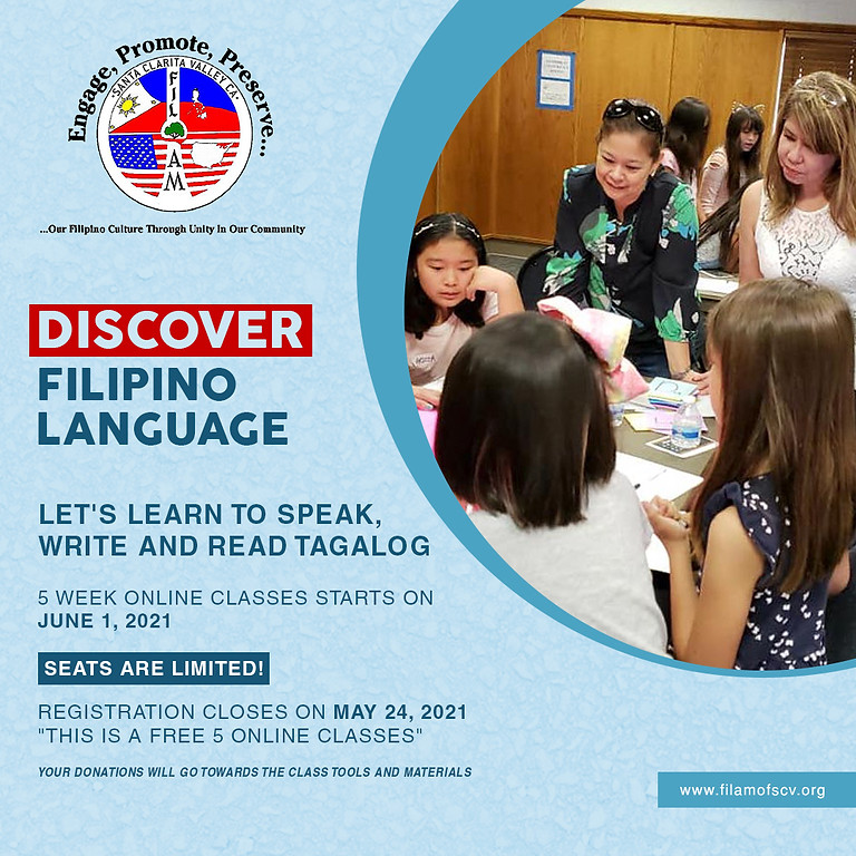 Free Class, Learn to Speak, Write & Read Tagalog