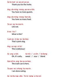 TAGALOG CLASS 1 - SIMPLE CONVERSATION 2