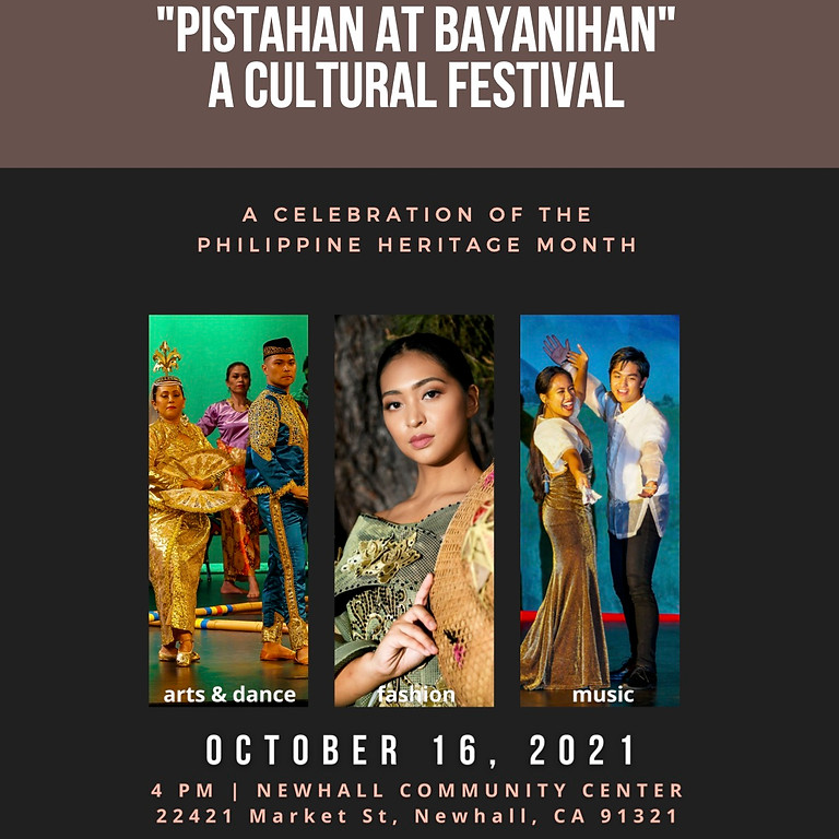 """""""PISTAHAN AT BAYANIHAN"""" CULTURAL FESTIVAL - PHILIPPINE HERITAGE MONTH CELEBRATION"""