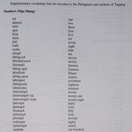 TAGALOG CLASS 1 - NUMBERS