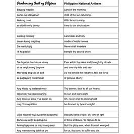 TAGALOG CLASS 3 - BAYANG MAGILIW
