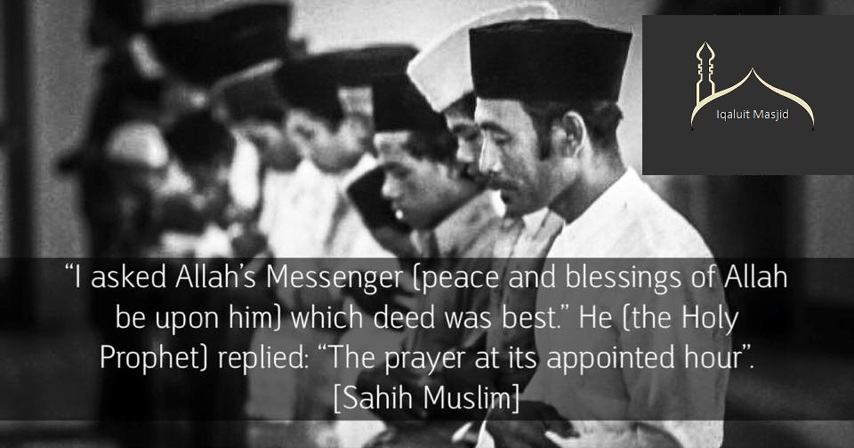 Reminder about importance of prayers
