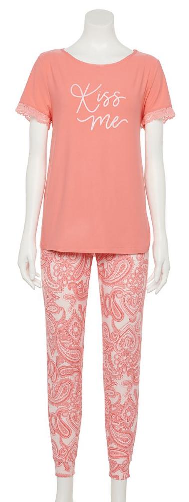 Women's Croft & Barrow® Pajama Top & Ban