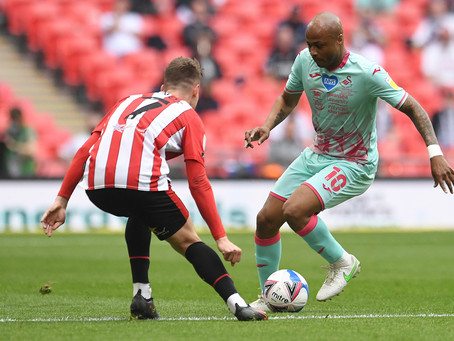 Swansea lose 2-0 to Brentford in lacklustre play-off final