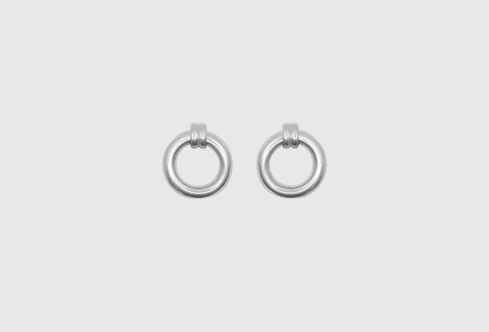 retro single hoops silver