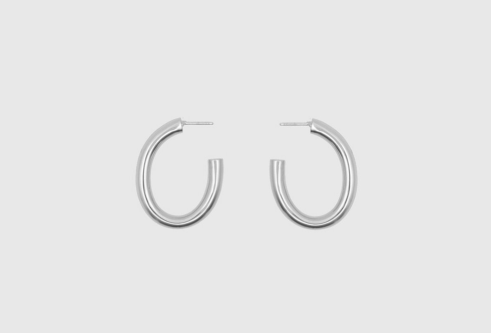 the big hoops oval silver