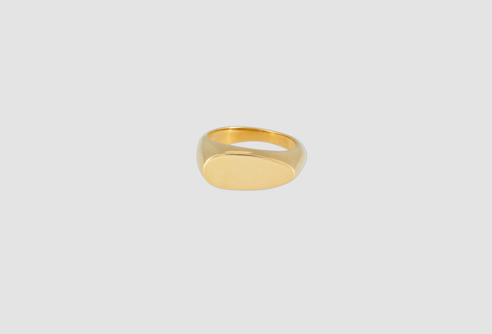 the signet ring oval gold