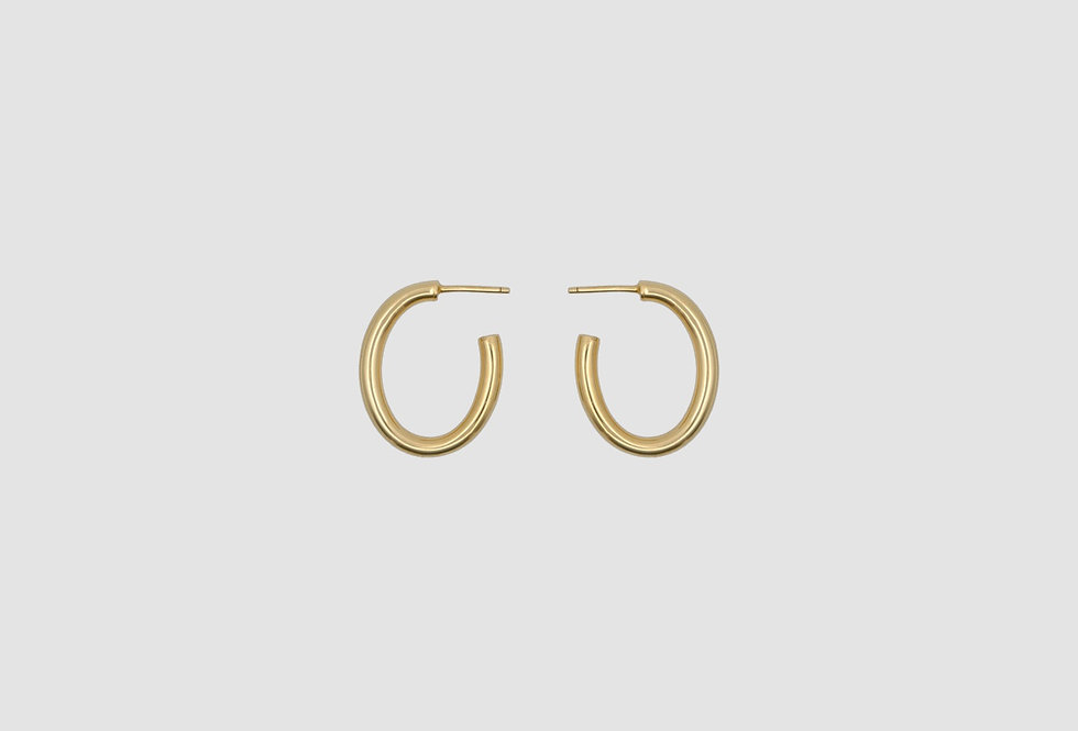 vintage creole oval gold