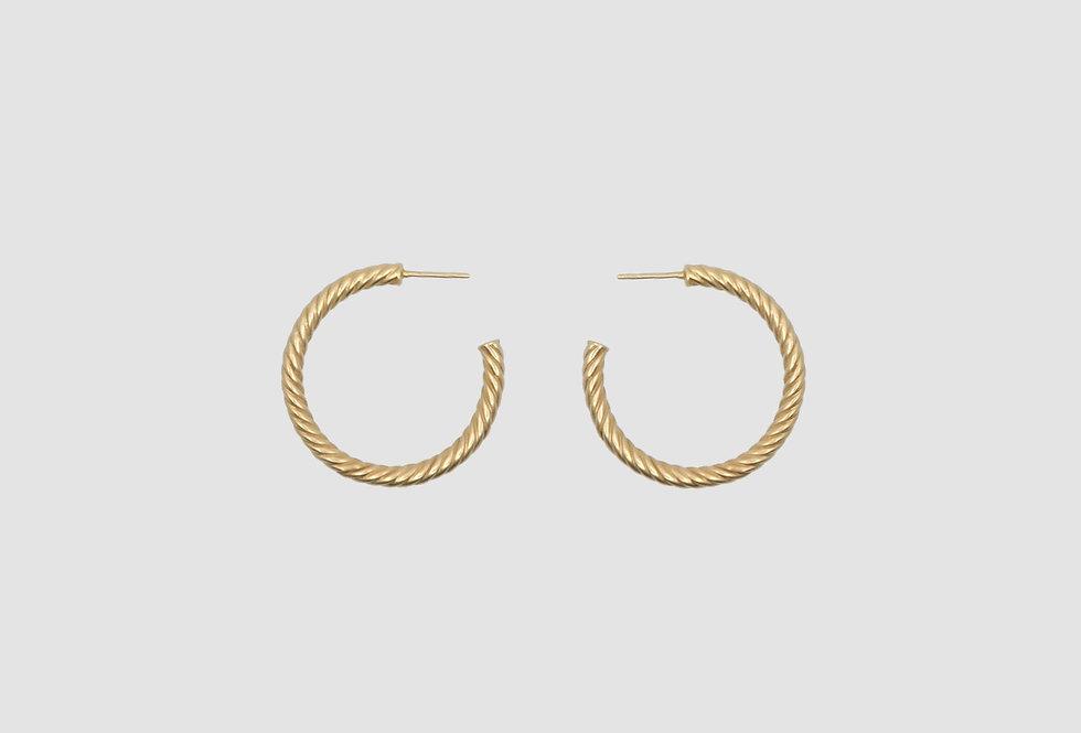 the big hoops twist gold