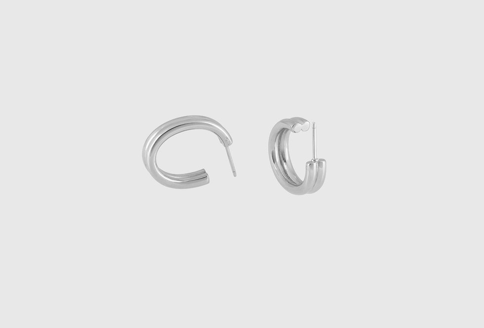 double oval creole silver