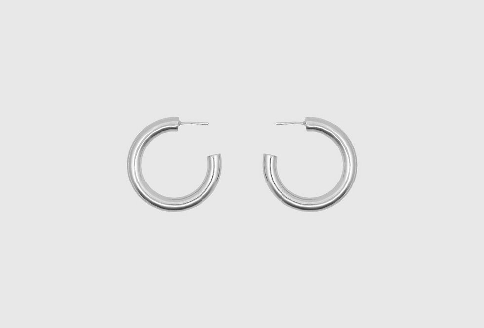 the big hoops round silver