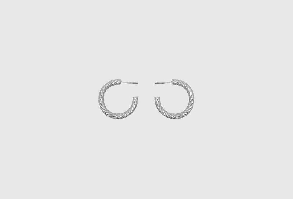 the hoops twist silver