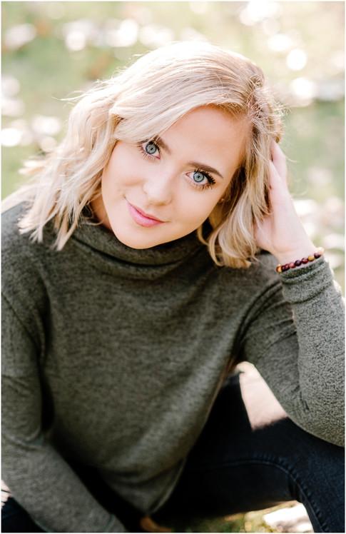 Actress sunlight creative portrait