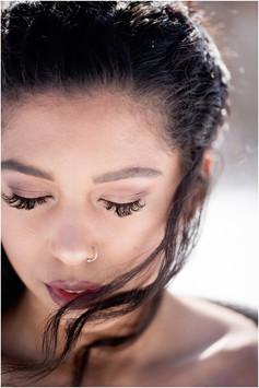 Bridal close up portrait