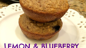 Lemon and blueberry muffins - refined sugar free