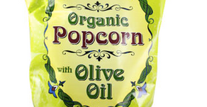 My pantry staple: Organic popcorn with olive oil