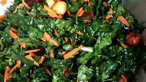 Kale, red beet & hazelnut salad with ginger dressing