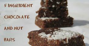 Chocolate and nut (Larabar copycat) energy bars - 5 ingredients, no baking!
