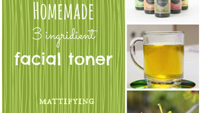 DIY All Natural 3 Ingredient Refreshing Facial Toner
