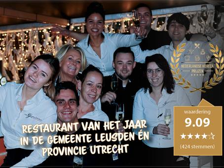 De Gezelligheid uitgeroepen tot Restaurant van het Jaar in Leusden en de provincie Utrecht