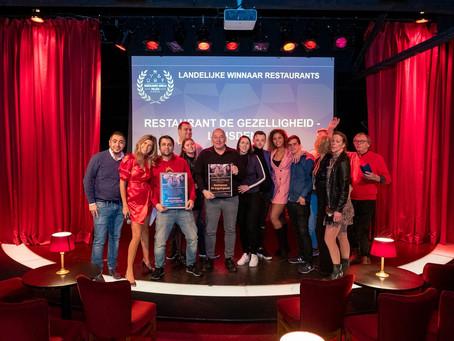 Restaurant De Gezelligheid uitgeroepen tot Restaurant van het Jaar van Nederland