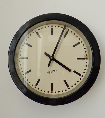 Vintage Swedish factory clock by Ericsson