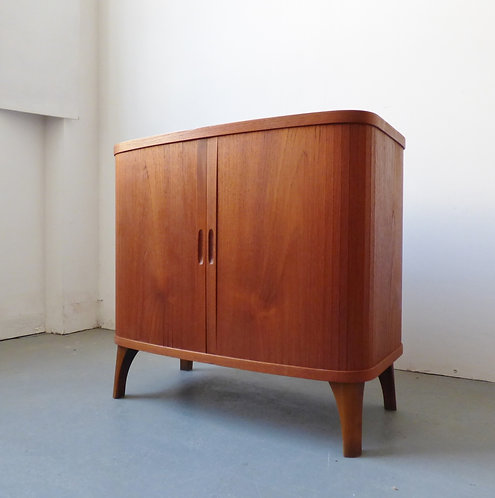 Danish teak tambour cabinet