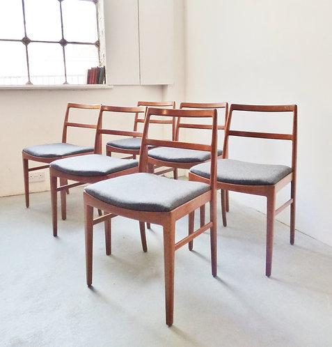 Set of 6 mid-century British dining chairs