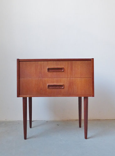 1960s Danish teak bedside chest / table 2 avail.