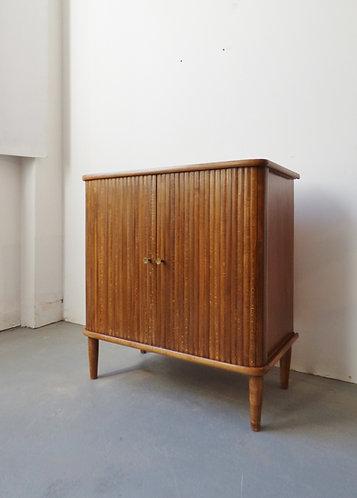 Vintage tambour cabinet