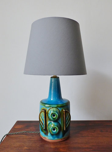 1960s turquoise table lamp by Søholm