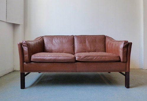 Vintage Danish 2 seater brown sofa -  Grant Møbelfabrik