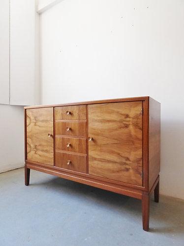 1940s British walnut sideboard