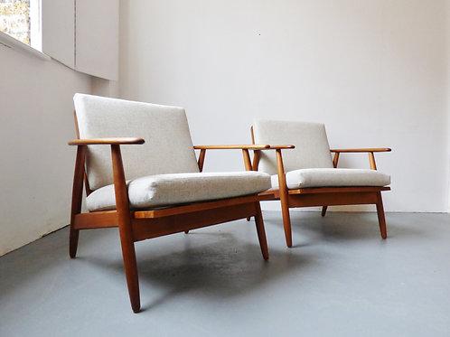 Pair of Danish lounge chairs