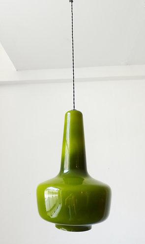 'Kreta' pendant glass lamp by Jacob E. Bang for Fog & Mørup