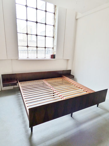 Mid-century Danish rosewood double bed