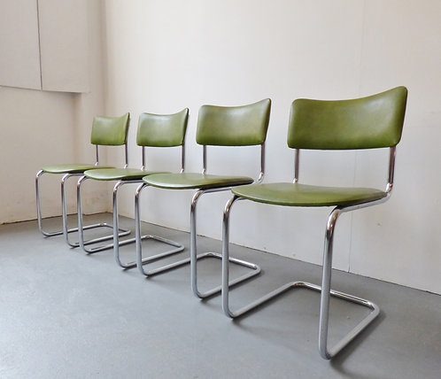 1970s cantilever dining chairs