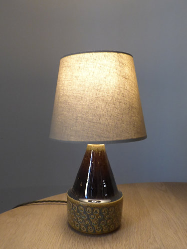 Small blue and green ceramic table lamp by Søholm