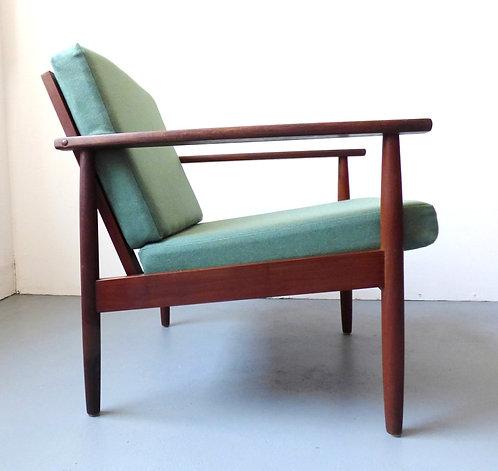 1960s Danish teak lounge chair
