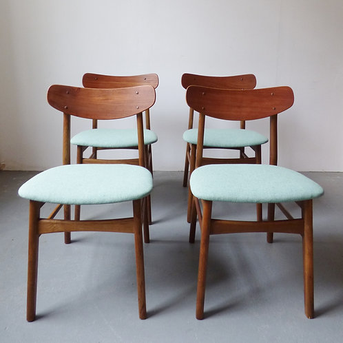 Set of 4 Danish dining chairs - 1950s