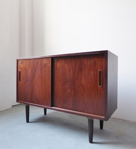 Mid-century rosewood sideboard with sliding doors