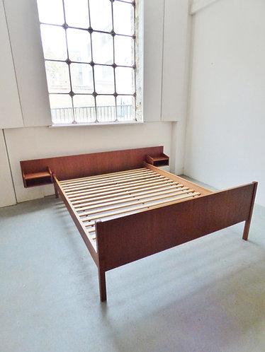 Danish teak double bed 1960s