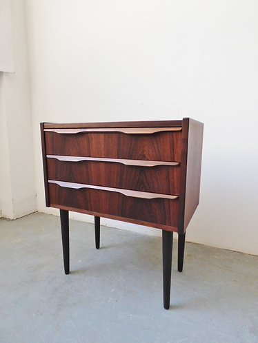 Mid-century rosewood hall chest of 3 drawers