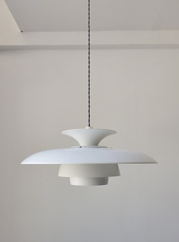 Classic large Danish white tiered pendant