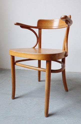 1930s Danish beech desk chair by Fritz Hansen