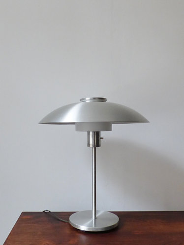 Mid-century Danish aluminium and glass desk lamp