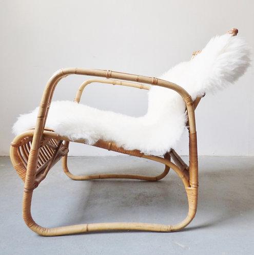 Vintage Danish bamboo chairs R Wengler