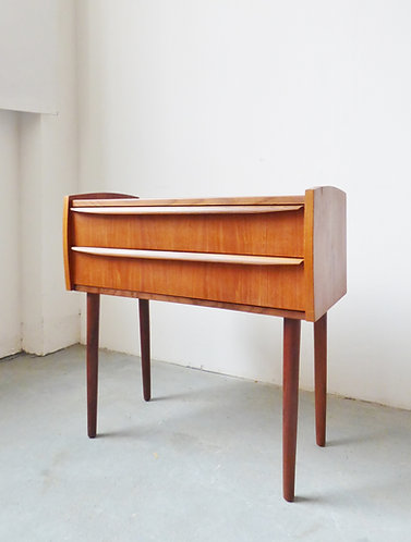 Small Danish teak chest of 2 drawers